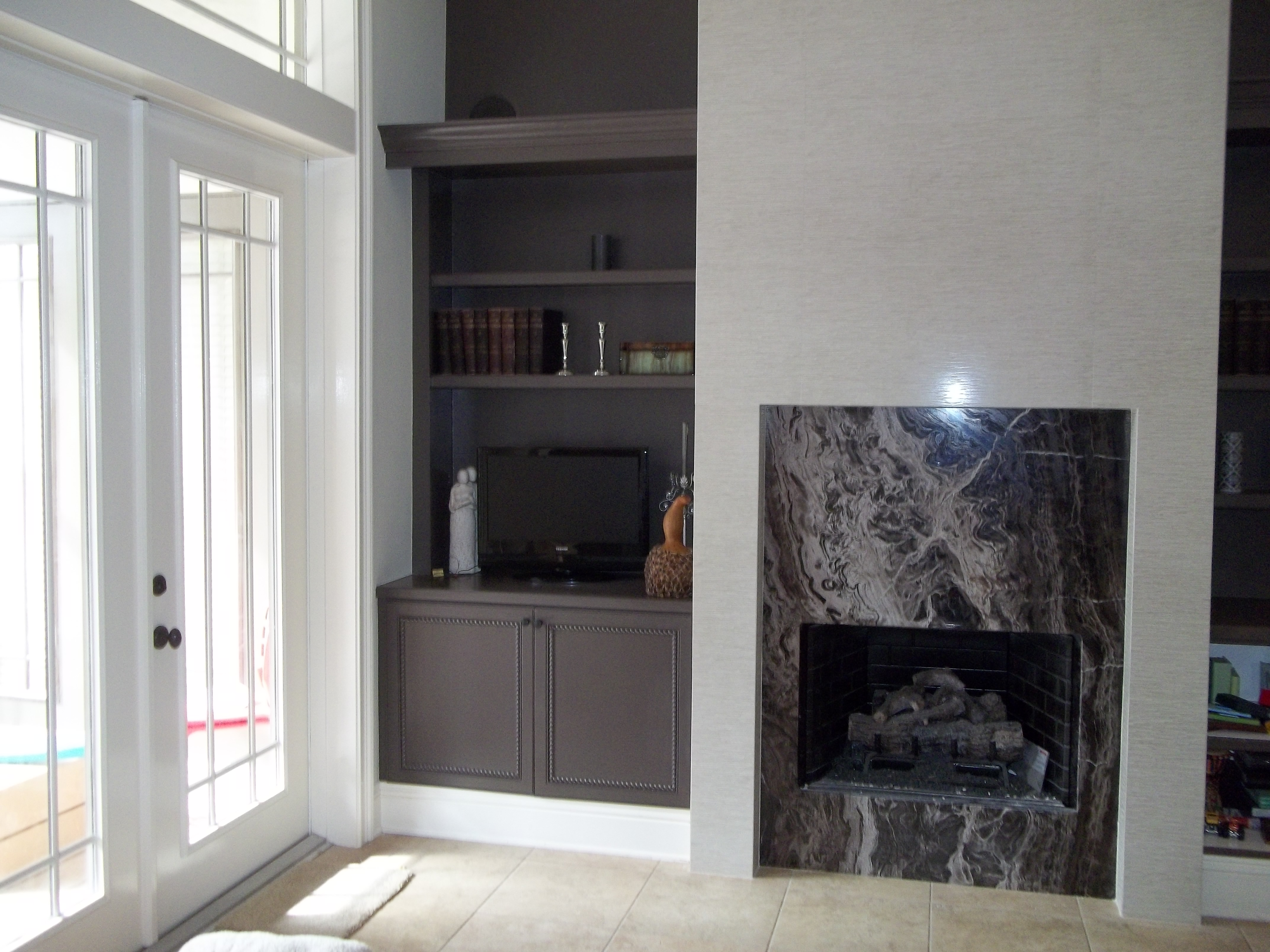 fireplace refinishing u2013 after