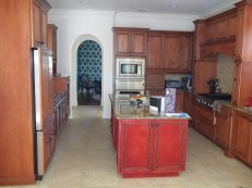 Cabinet Refinishing - BEFORE
